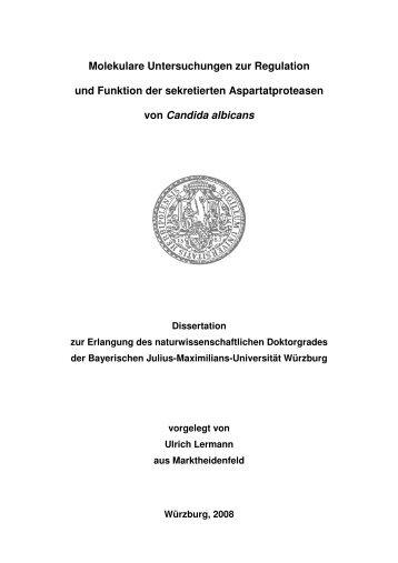 Molekulare Untersuchungen zur Regulation und Funktion der ...