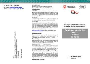 17. Dezember 2008 - Deutsche Klinefelter-Syndrom Vereinigung e.V.