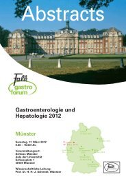 Gastroenterologie und Hepatologie 2012 - Dr. Falk Pharma GmbH