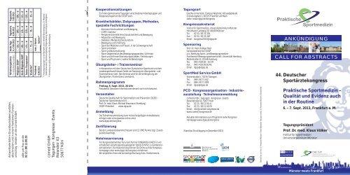Alle Informationen auf einen Blick (pdf download) - DGSP
