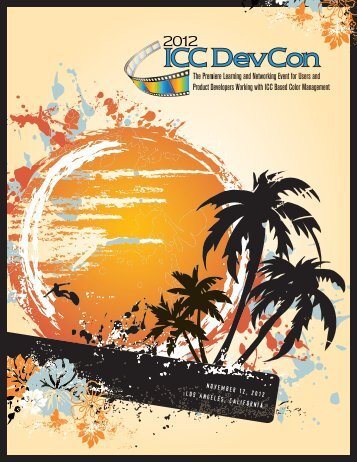 DevCon '12 brochure - International Color Consortium