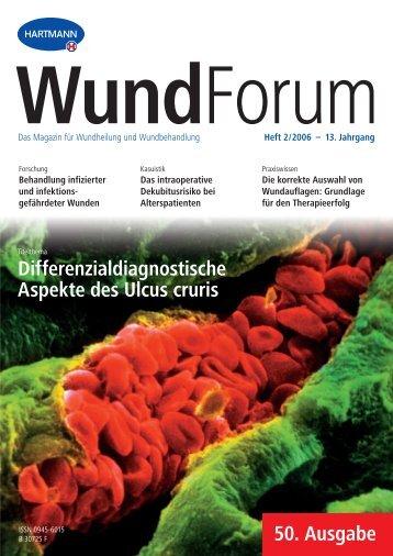 Heft 2/2006 – 13. Jahrgang WundForum - Hartmann
