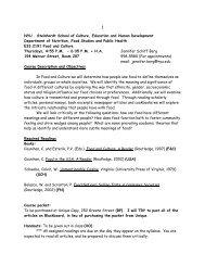FOOD-GE 2191 Food and Culture - NYU Steinhardt School of ...