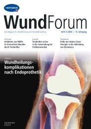 Heft 3/2008 – 15. Jahrgang WundForum - Hartmann