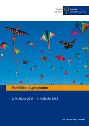 Fortbildungsprogramm - Contilia Gruppe