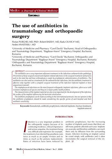 The use of antibiotics in traumatology and orthopaedic surgery