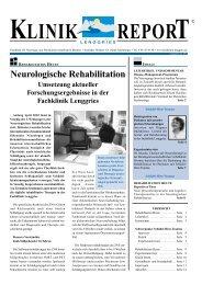 KLINIK REPORT - Fachklinik Lenggries