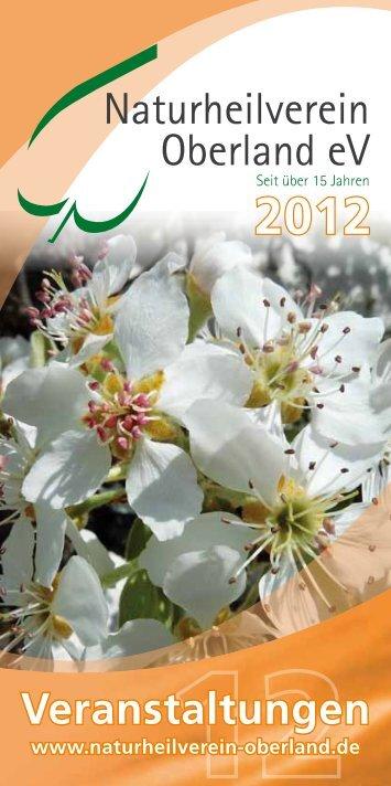Jahresprogramm 2012 des Naturheilvereins