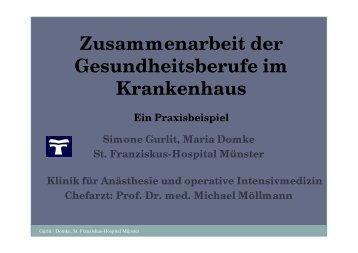 Zusammenarbeit der Gesundheitsberufe im Krankenhaus