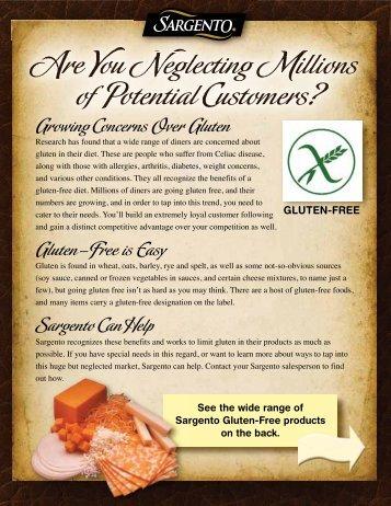 Sargento Gluten Free Sell Sheet - Sargento Food Service
