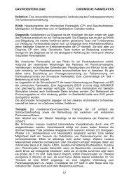 GASTROENTEROLOGIE CHRONISCHE PANKREATITIS 57 Definition