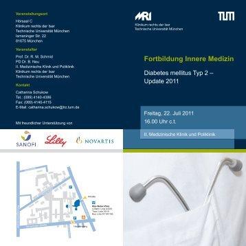 Fortbildung Innere Medizin - Klinikum rechts der Isar - TUM