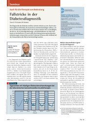 Fallstricke in der Diabetesdiagnostik - Fachkommission Diabetes in ...