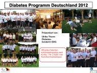 Diabetes Programm Deutschland - Herbsttagung 2012