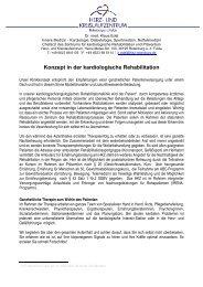 Konzept in der kardiologische Rehabilitation - Herz- und ...
