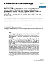 Differential effects of fenofibrate versus atorvastatin on the ...