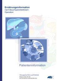 Patienteninformation - Chirurgische Klinik und Poliklinik des ...