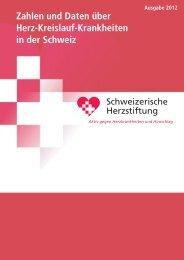 Zahlen und Daten über Herz-Kreislauf-Krankheiten in der Schweiz