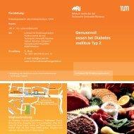 Genussvoll essen bei Diabetes mellitus Typ 2 - Klinikum rechts der ...