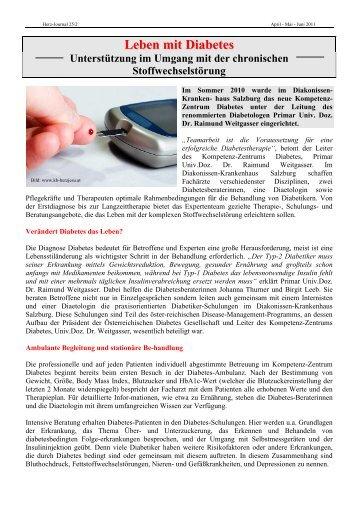 Leben mit Diabetes.HP.pdf - Herzverband Salzburg