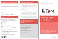 Impfung gegen Typ 1 Diabetes - Diabetes Pre-POINT-Studie