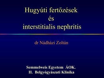 Hugyúti fertőzések és interstitialis nephritis - Semmelweis Egyetem II ...