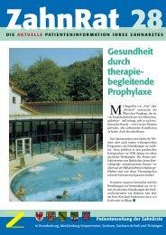 Gesundheit durch therapiebegleitende Prophylaxe - Zahnarzt Praxis ...