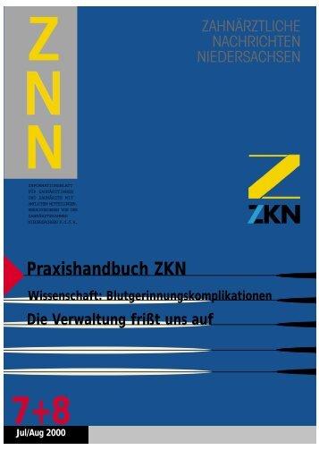 Praxishandbuch ZKN - Zahnärztekammer Niedersachsen