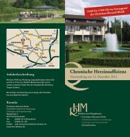 Chronische Herzinsuffizienz - Christiaan-Barnard-Klinik