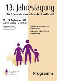 Wissenschaftliches Programm - Österreichische Adipositas ...