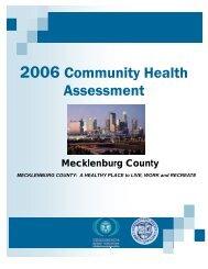 health behaviors - Charlotte-Mecklenburg County