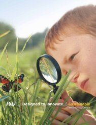 Designed to Innovate... Sustainably - Procter & Gamble