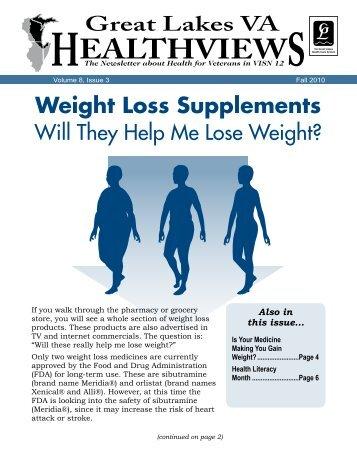 Weight Loss Supplements - VISN 12