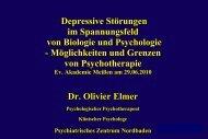 Depressive Störungen im Spannungsfeld von Biologie und ...