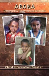 Child Information Booklet - Blessing the Children