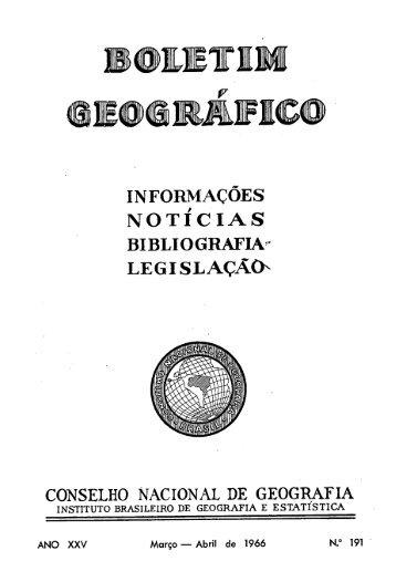 Boletim Geografico 1966 v25 n191 - Biblioteca - IBGE