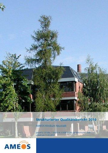Qualitätsbericht 2010 AMEOS Klinikum Neustadt