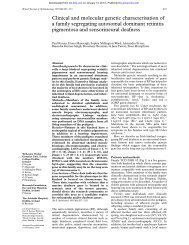 Clinical and molecular genetic characterisation of a family ...