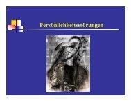 Persönlichkeitsstörungen - Medizinische Universität Graz
