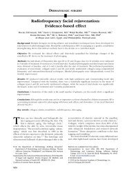 Radiofrequency facial rejuvenation: Evidence-based effect