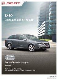 eXeO limousine und st Kombi Preise/ausstattungen - SEAT Österreich