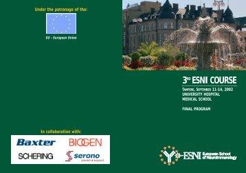 Download final program - ESNI