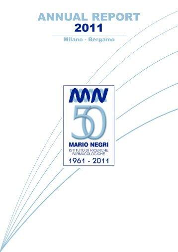 annual report inglese 2011 def - Istituto di Ricerche Farmacologiche ...