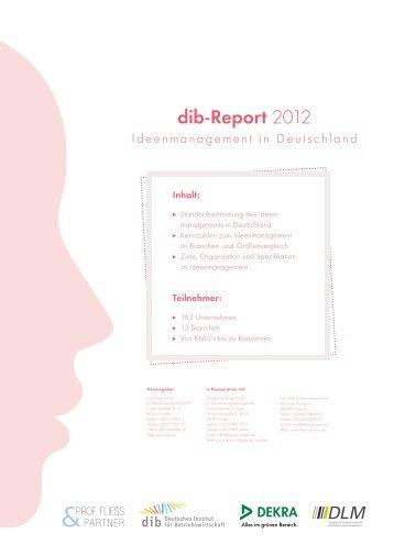 Flyer dib-Report 2012 - Deutsches Institut für Betriebswirtschaft GmbH