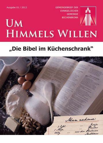 Gemeindebrief 01/2013 - in Büchenbronn