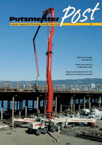 booster 15 concrete and shotcrete pump imer usa customer magazine by putzmeister concrete pumps gmbh 76 big