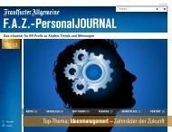 F.A.Z.-PersonalJOURNAL Ausgabe Oktober 2012 (pdf 3,5 - FAZ.net