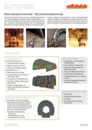 Produktblatt Tunnelscanning Bestandsaufnahme - dibit