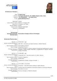 CV PhD Ing Guido Di Bella 1/15 - Oratorio Savio Messina