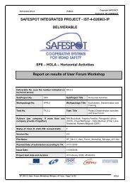 IST-4-026963-IP DELIVERABLE SP8 - Safespot